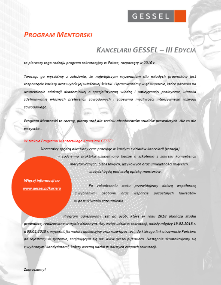 gessel program mentorski